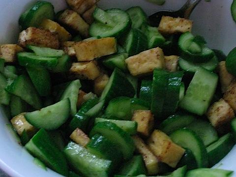Lemon Cucumber Tofu Salad   The Healthy Hostess